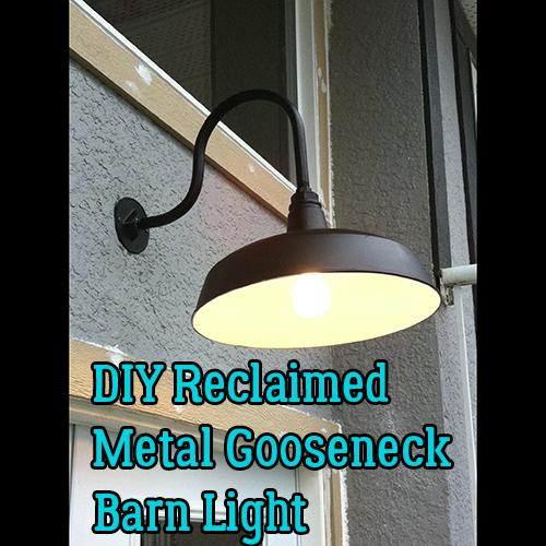 DIY Metal Gooseneck Exterior Barn Lamp