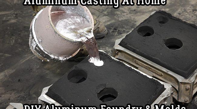 Aluminum Casting At Home - DIY Aluminum Foundry & Molds