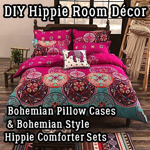 DIY Hippie Room Décor – Bohemian Pillow Cases & Bohemian Style Hippie Comforter Sets