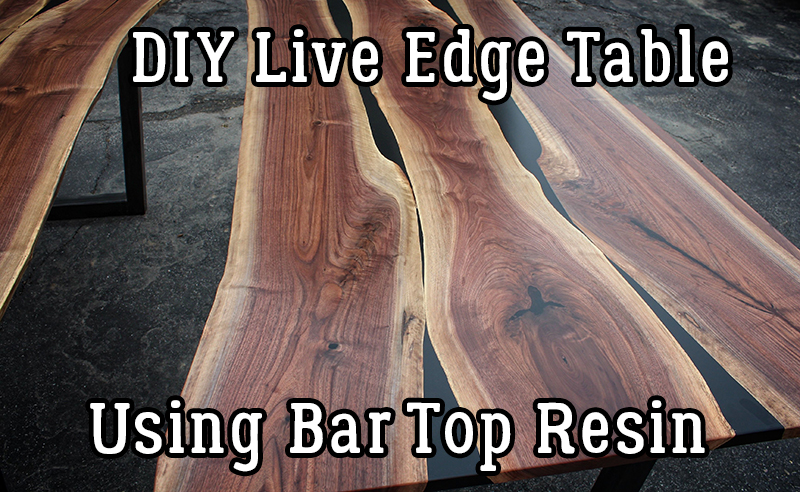 diy live edge table using bar top resin timber ridge designs