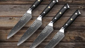 Custom Damascus Steel Steak Knives