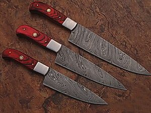 custom damscus steel kitchen knives